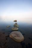 предыдущее туманнейшее море утра Стоковые Изображения