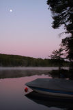 предыдущее утро луны стоковое изображение