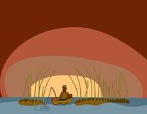 предыдущее утро рыболовства Стоковое Изображение RF
