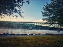 предыдущее утро тумана стоковые фотографии rf