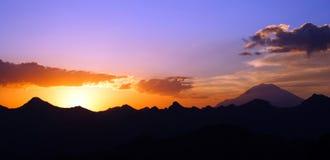 предыдущее утро elbrus Стоковая Фотография