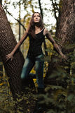Предыдущий портрет осени девушки Стоковое фото RF