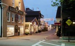 Предыдущий рассвет на причале ` s Bowen, Ньюпорте, RI стоковое изображение rf