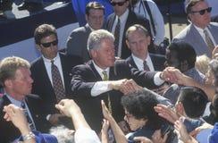 Прежний президент Bill Clinton встречает толпу Стоковое Изображение RF