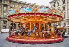 Прежний carousel в Флоренсе, Италии Стоковое фото RF