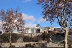 Президентская администрация Georgia в Тбилиси в зиме Стоковые Изображения
