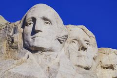 Президентская скульптура на национальном монументе Mount Rushmore, Южной Дакоте стоковые фотографии rf