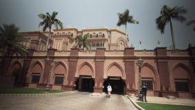 Президентский дворец эмиратов гостиницы в видео отснятого видеоматериала запаса Абу-Даби видеоматериал