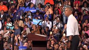 Президент встречи США Barack Obama с студентами Флориды видеоматериал