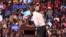 Президент встречи США Barack Obama с студентами Флориды сток-видео