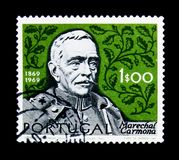 Президент Оскар Антонио de Fragoso Carmona 1869-1951, столетие рождения serie Carmona маршала, около 1970 стоковые фото