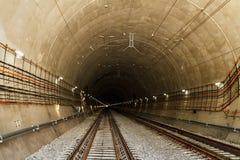 Президент Poroshenko раскрывает новый железнодорожный тоннель в Карпатах Стоковые Изображения