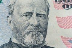 Президент Ulysses s Сторона grant появляется на счет $50 стоковые фотографии rf