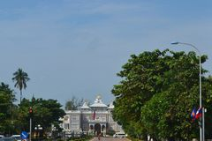 Президентский дворец & x28; Laos& x29; Стоковая Фотография
