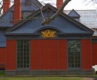 Президентское уплотнение на доме Теодора Рузвельта Стоковые Фото