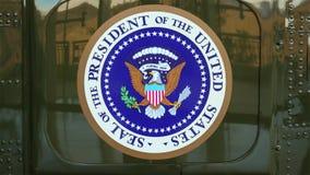 Президентское уплотнение на стороне президентского вертолета стоковые изображения