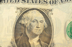 Президент Вашингтон на конце-вверх долларовой банкноты Стоковые Фото