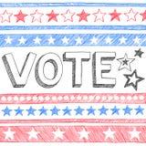 Президент Избрание Схематичный Doodles Вектор голосования Стоковые Фото