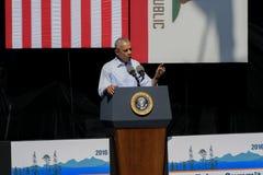 Президент Обама говорит на двадцатом ежегодном саммите 25 Лаке Таюое Стоковая Фотография