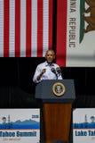 Президент Обама на двадцатом ежегодном саммите 9 Лаке Таюое Стоковые Фото