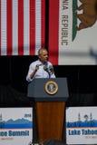 Президент Обама на двадцатом ежегодном саммите 10 Лаке Таюое Стоковая Фотография RF