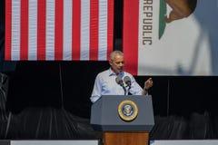 Президент Обама Speaking на двадцатом ежегодном саммите 6 Лаке Таюое Стоковая Фотография
