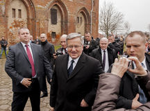 Президент республики Польши Bronislaw Komorowski Стоковое фото RF
