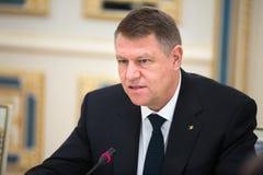 Президент Румынии Klaus Iohannis стоковое фото