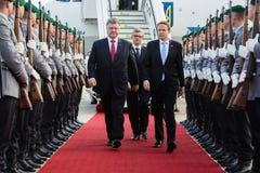 Президент Украины во время его посещения к Берлину Стоковое фото RF