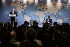 Президент Украины Petro Poroshenko в доме Chatham, Великобритании Стоковое фото RF