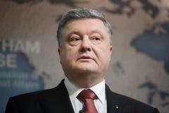 Президент Украины Petro Poroshenko в доме Chatham, Великобритании Стоковые Фотографии RF