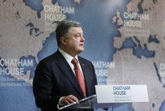 Президент Украины Petro Poroshenko в доме Chatham, Великобритании Стоковые Изображения RF