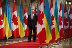 Президент Украины Petro Poroshenko в Оттаве (Канада) Стоковые Изображения