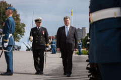 Президент Украины Petro Poroshenko в Оттаве (Канада) Стоковое Изображение
