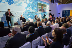 Президент Украины Petro Poroshenko на одиннадцатом ежегодном собрании Стоковые Фотографии RF