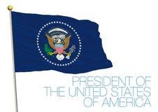 Президент флага Соединенных Штатов Америки Стоковые Фотографии RF