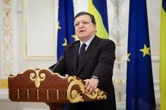 Президент Хосе Manuel Barroso европейской комиссии стоковое изображение rf