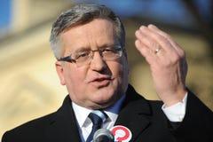 Президент Bronislaw Komorowski Polnad Стоковые Изображения RF