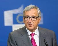 Президент Jean-Claude Juncker европейской комиссии Стоковое Фото