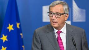 Президент Jean-Claude Juncker европейской комиссии Стоковые Изображения