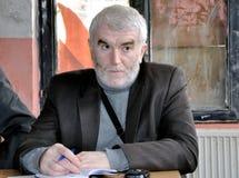 Президент Murselj Haljilji гражданской инициативы Gora Стоковое Фото