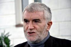 Президент Murselj Haljilji партии Gorani Стоковое Изображение
