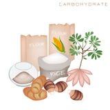Преимущества здоровья и питания еды углевода Стоковое Изображение