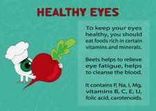 Преимущества свеклы для здоровых глаз Стоковое фото RF