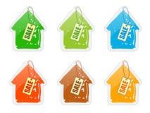 прейскурантная цена дома Стоковое Изображение