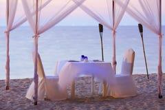 прекрасное место обеда романтичное Стоковые Фотографии RF
