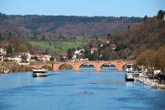 Прекрасное немецкое река стоковые фотографии rf