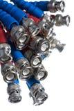 прекращенные кабели bnc Стоковые Изображения