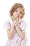 прелестная белокурая девушка немногая унылое Стоковое Фото