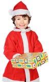 прелестное рождество мальчика стоковые фотографии rf